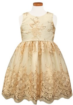 Sorbet Toddler Girl's Embroidered Tulle Party Dress