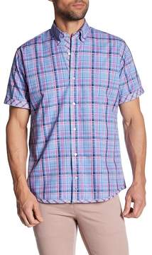 Tailorbyrd Short Sleeve Plaid Print Trim Fit Woven Shirt (Big & Tall Available)