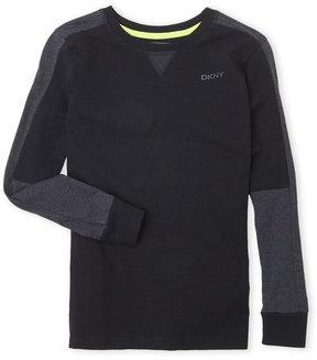 DKNY Boys 8-20) Color Block Long Sleeve Tee