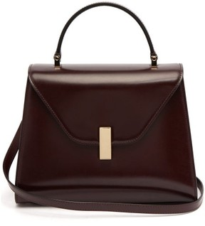 Valextra Iside Medium Leather Bag - Womens - Burgundy