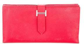 Hermes 2015 Epsom Bearn Wallet - RED - STYLE