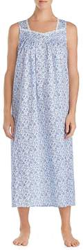 Eileen West Blue Floral-Print Lawn Ballet Nightgown