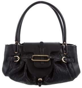 Jimmy Choo Leather-Trimmed Tulita Bag
