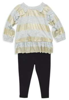 Splendid Toddler's& Little Girl's Two-Piece Peplum Top& Classic Leggings Set