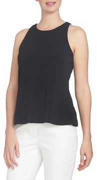 CeCe Women's Twist Back Crepe Knit Tank