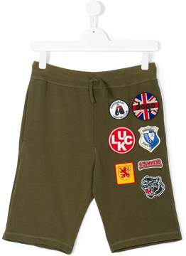 DSQUARED2 Teen badges shorts
