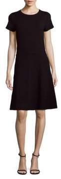 Saks Fifth Avenue BLACK Short-Sleeve Midi A-Line Dress