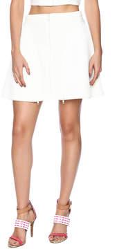 Ark & Co Zipper Mesh Flare Skirt