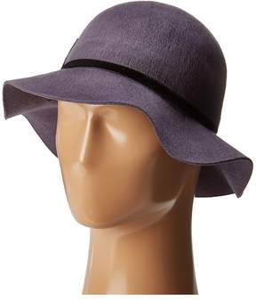 San Diego Hat Company WFH8052 Floppy Brushed Wool Hat with Floral Patch Caps
