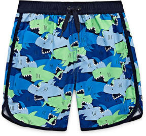 Trunks Okie Dokie Shark Print Swim Trunk - Toddler Boys