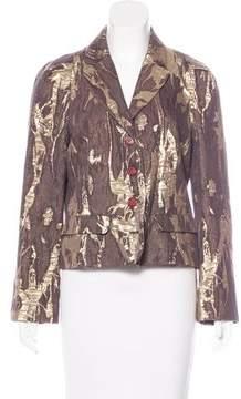 Christian Lacroix Vintage Metallic Button-Up Blazer