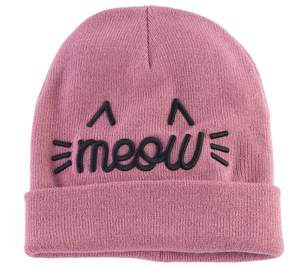 Mudd Women's Embroidered Meow Beanie