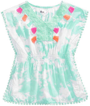 Epic Threads Toddler Girls Crochet-Trim Caftan Top, Created for Macy's