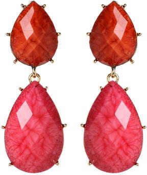 Amrita Singh Pink & Fuchsia Camella Teardrop Earrings