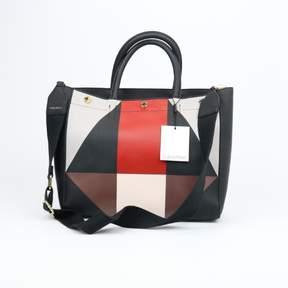 Calvin Klein Medium Geometric Satchel Leather