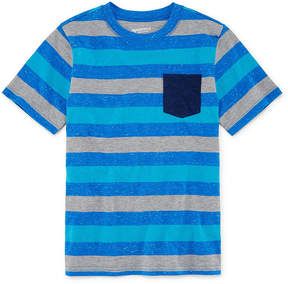 Arizona Short Sleeve Stripe T-Shirt-Boys 4-20
