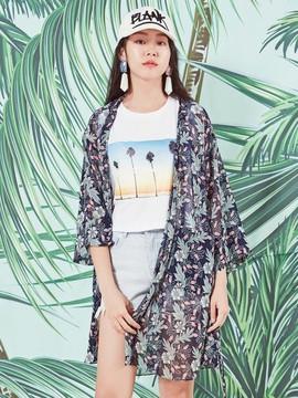 Blank Summer Print Robe-Nv