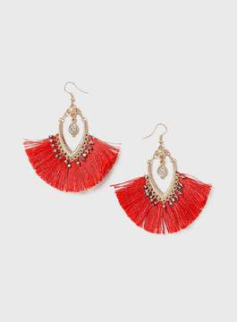 Dorothy Perkins Red Tassel Chandelier Earrings
