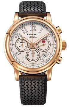 Chopard Mille Miglia Chronograph White Dial 18k Rose Gold Men's Watch