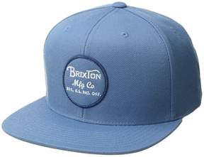 Brixton Wheeler Snapback Caps