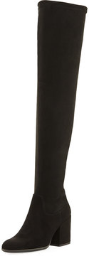 Sesto Meucci Victor Over-the-Knee Suede Boot, Black