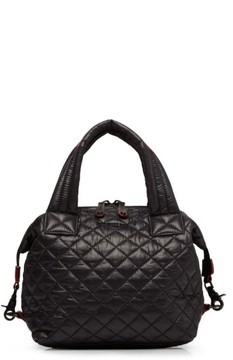 MZ Wallace 'Small Sutton' Quilted Oxford Nylon Crossbody Bag - Black