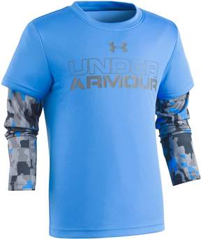 Under Armour Toddler Boy Mock-Layer Camouflaged Long Sleeve Tee