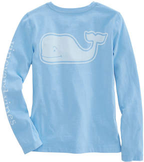 Vineyard Vines Girls Long-Sleeve Solid Vintage Whale Pocket Tee