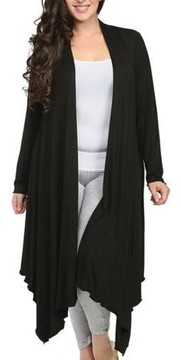 24/7 Comfort Apparel Women's Plus Size Flowing Long Sleeve Shrug