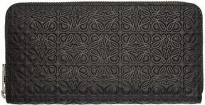 Loewe Black Medium Anagram Zip Around Wallet