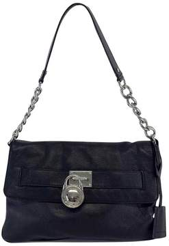 Michael Kors Black Pebbled Leather Shoulder Bag - BLACK - STYLE