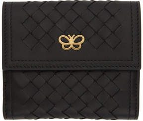 Bottega Veneta Black Intrecciato Small Flap Wallet