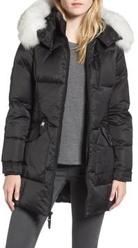 1 Madison Women's Puffer Jacket With Genuine Fox Fur Trim