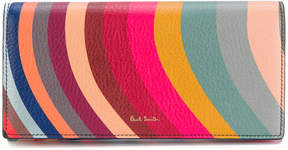 Paul Smith 'Swirl' print leather tri-fold purse