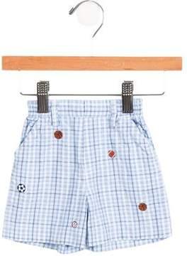 Florence Eiseman Boys' Embroidered Plaid Shorts