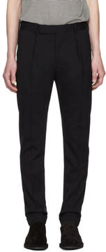 Paul Smith Navy Wool Cropped Trousers