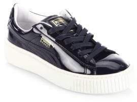 Puma Leather Basket Platform Sneakers