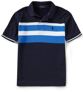 Ralph Lauren Big Boys 8-20 Short-Sleeve Striped Stretch Mesh Polo Shirt