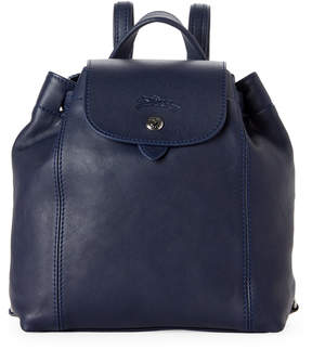Longchamp Navy Le Pliage Cuir Backpack