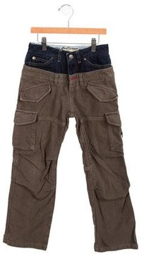 John Galliano Girls' Denim-Paneled Cargo Pants