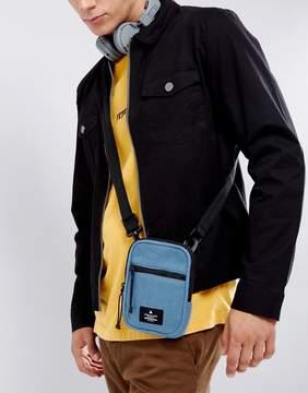 Asos Flight Bag In Blue Fleece