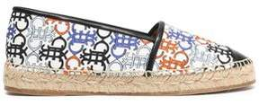 Emilio Pucci Faux Leather-Trimmed Printed Canvas Espadrilles
