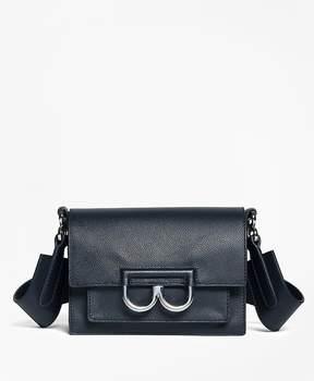 Brooks Brothers Calf Leather B Buckle Shoulder Bag