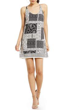 B. Darlin Patchwork Print Shift Dress