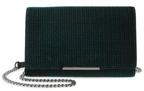 Botkier Women's Snake Embossed Leather Wallet On A Chain - Green