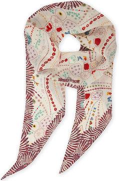 Zadig & Voltaire Psychedelic print silk scarf