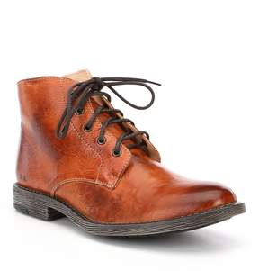 Bed Stu Men's Hoover Distressed Leather Lace-Up Boots