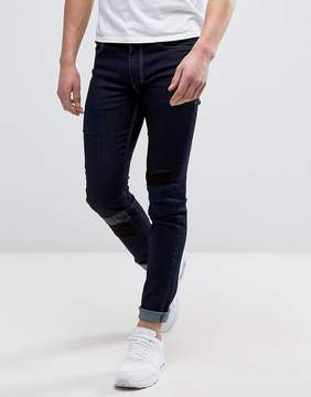 Religion Patched Denim in Super Skinny Fit With Stretch