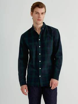 Frank and Oak Plaid Flannel Shirt in Green Gables