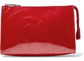 MM6 MAISON MARGIELA Embossed Faux Patent-Leather Pouch